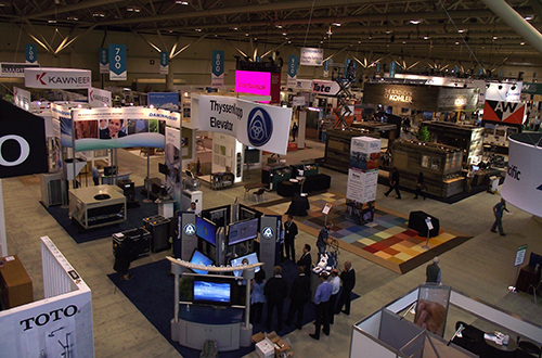 Photo of the GreenBuild 2011 Expo Hall