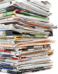 newspapers used in cellulose insulation