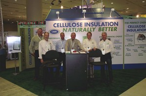 cellulose insulation pavilion greenbuild 2012 team photo