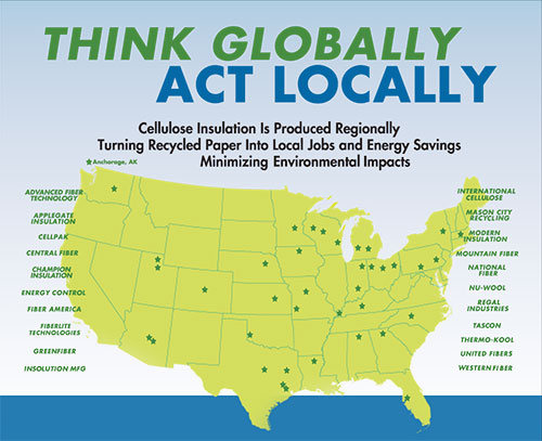 Made In The USA Can Be Hard To Do In New Home Building Greenest - Map insulation