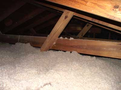 cellulose insulation in attic blown over ducts & Insulate Attic Duct Work With Blown-In Cellulose Insulation ...