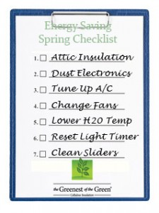 Cellulose Insulation Spring Cleaning Energy Saving Checklist