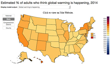 Yale Climate Change Map
