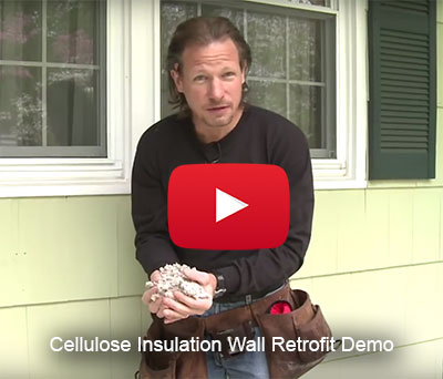 Video thumbnail Cellulose Insulation Wall Retrofit Demo