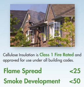 cellulose insulation flame/smoke spread rating