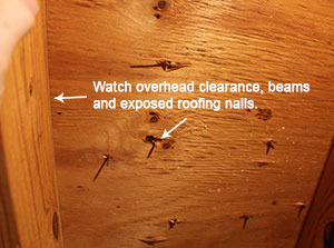 Attic Overhead Clearance Hazards Photo CIMA
