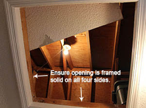 Attic Hatch Framing Photos CIMA