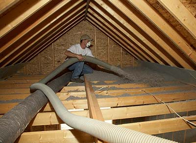 Cellulose Insulation Blow In Attic Installation CIMA