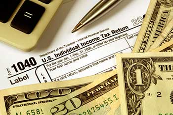 Image of 1040 IRS Form