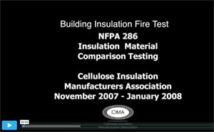 CIMA Insulation Building Fire Test Video