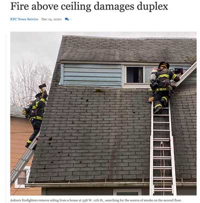 Cellulose Insulaiton in Duplex Fire Story Star News Indiana Link