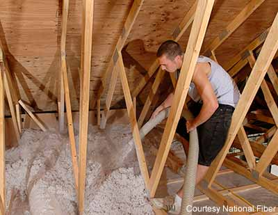 Homeowner information about dyi projects with cellulose insulation cellulose insulation is best used for diy dry blow in attic installations solutioingenieria Image collections