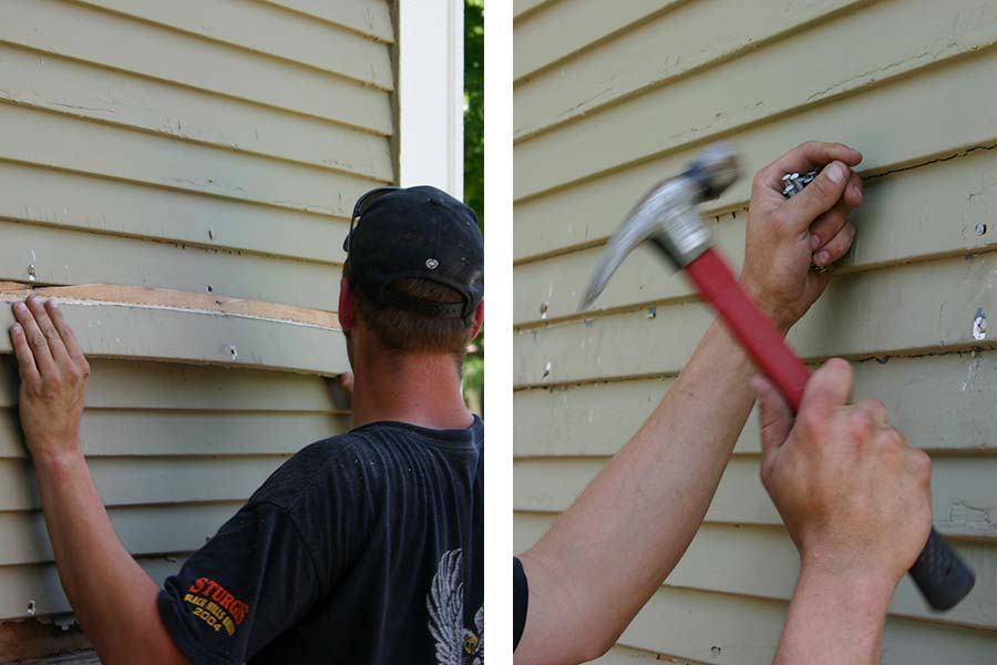 Exterior wall retrofit with cellulose insulation step 4-replace siding2020