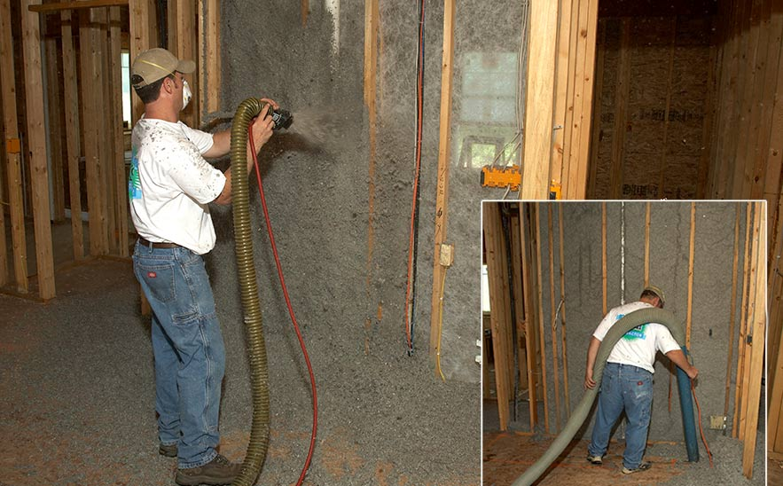 Cellulose Insulation is recovered and reused on-site30275