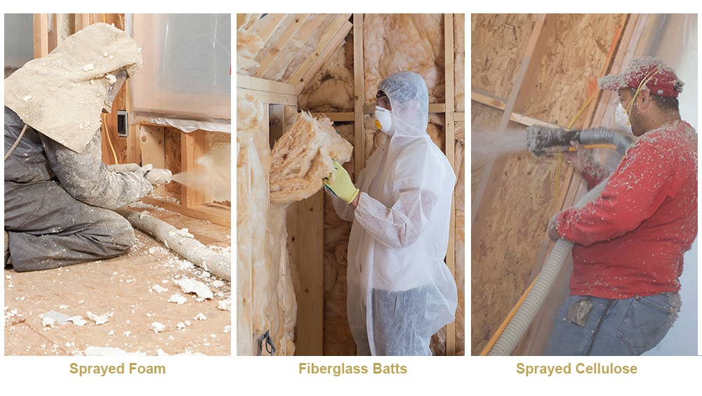 Compare cellulose,fiberglass and foam insulation products40430